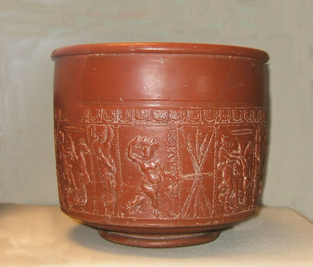 Samian ware with the name-stamp of Divixtus. Late 2nd c. AD.