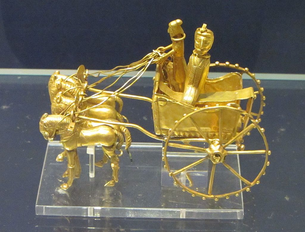 Gold model chariot.