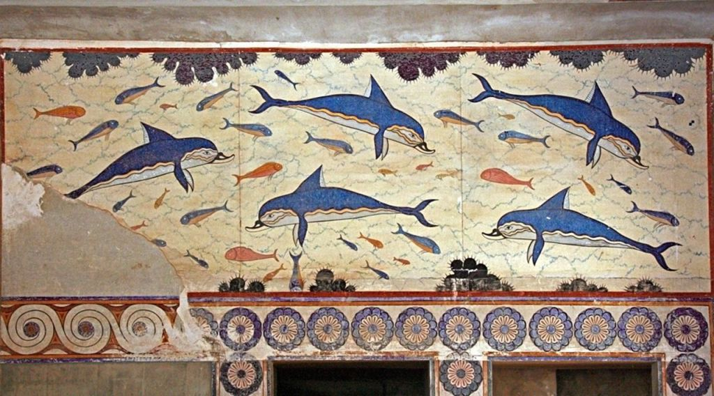 The Dolphin Fresco from Knossos.