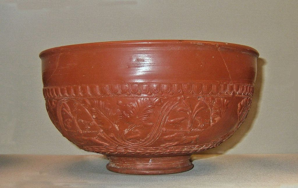 Samian ware bowl, late 1st c. AD.