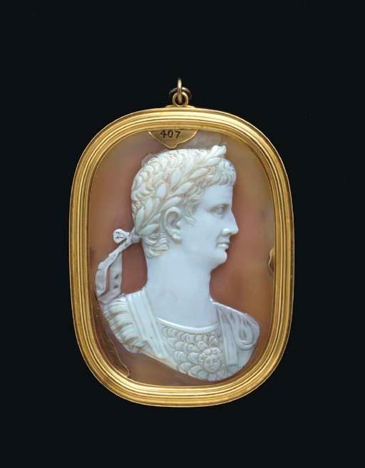 Onyx cameo portrait of Claudius, c. 41-54 AD.