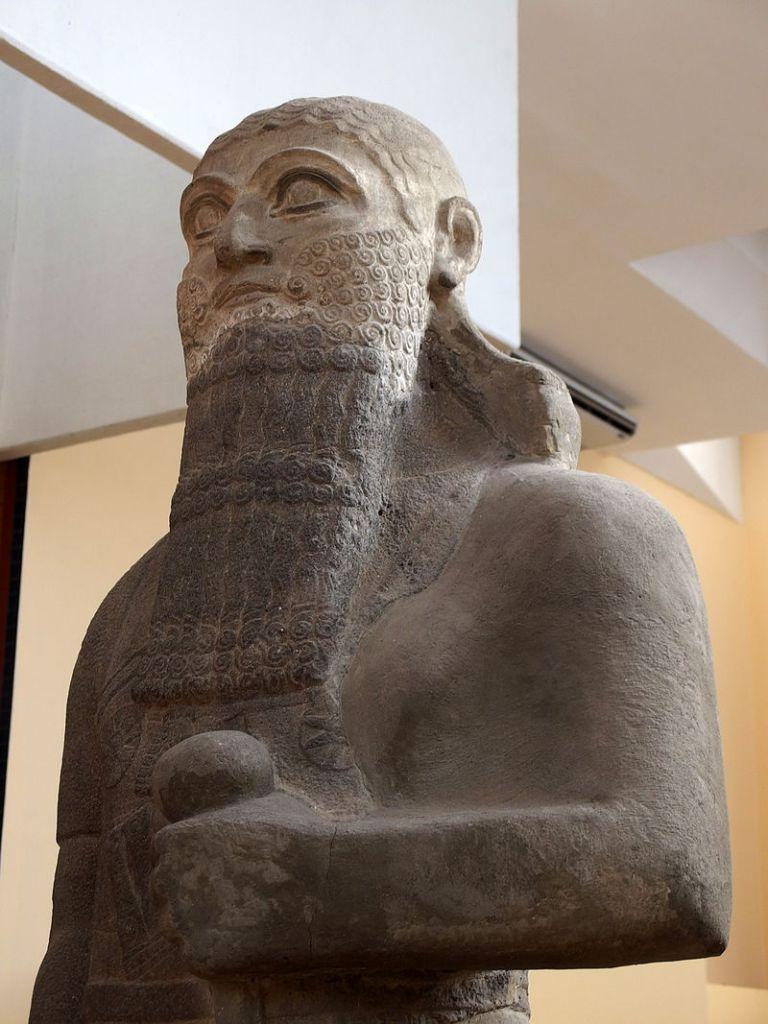 Detail of statue ofShalmaneser IIIinIstanbul.