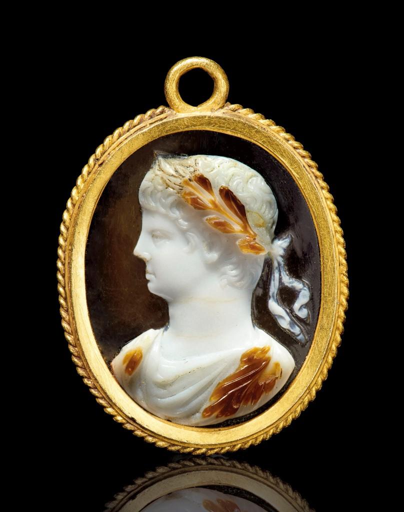 Sardonyx cameo portrait of Nero, 1st c. AD.
