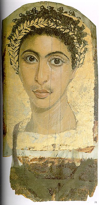 Gilded portrait of a young man. Egyptian Museum, Berlin.