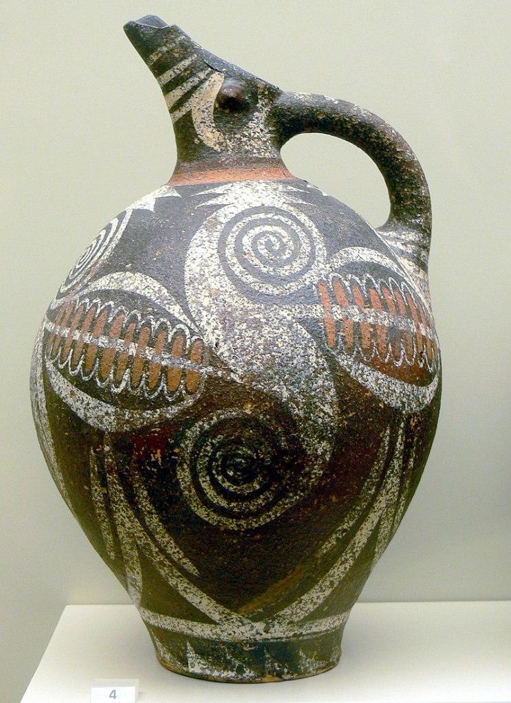 Kamares ware jug, c. 2100 BC.
