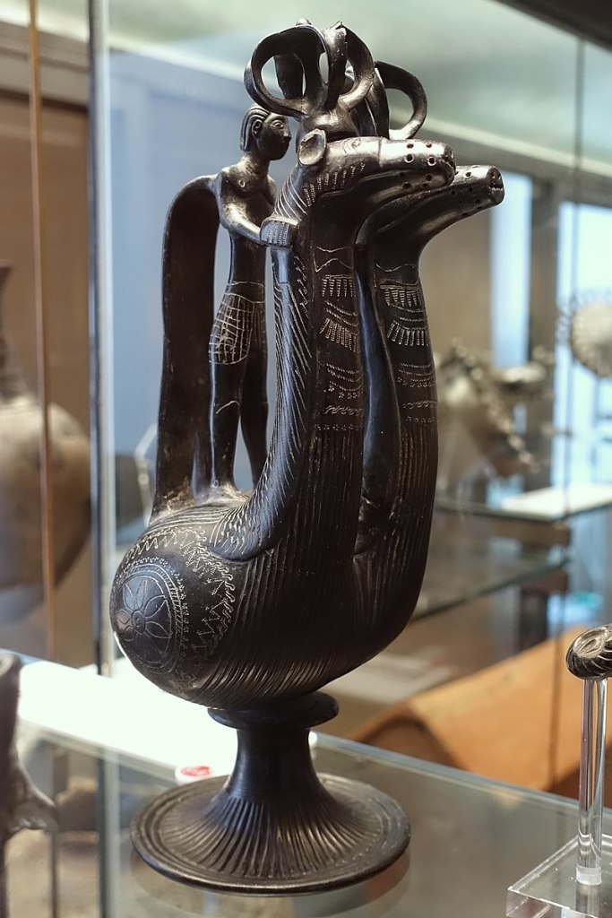 Bucchero jug, c. 660–650 BC.