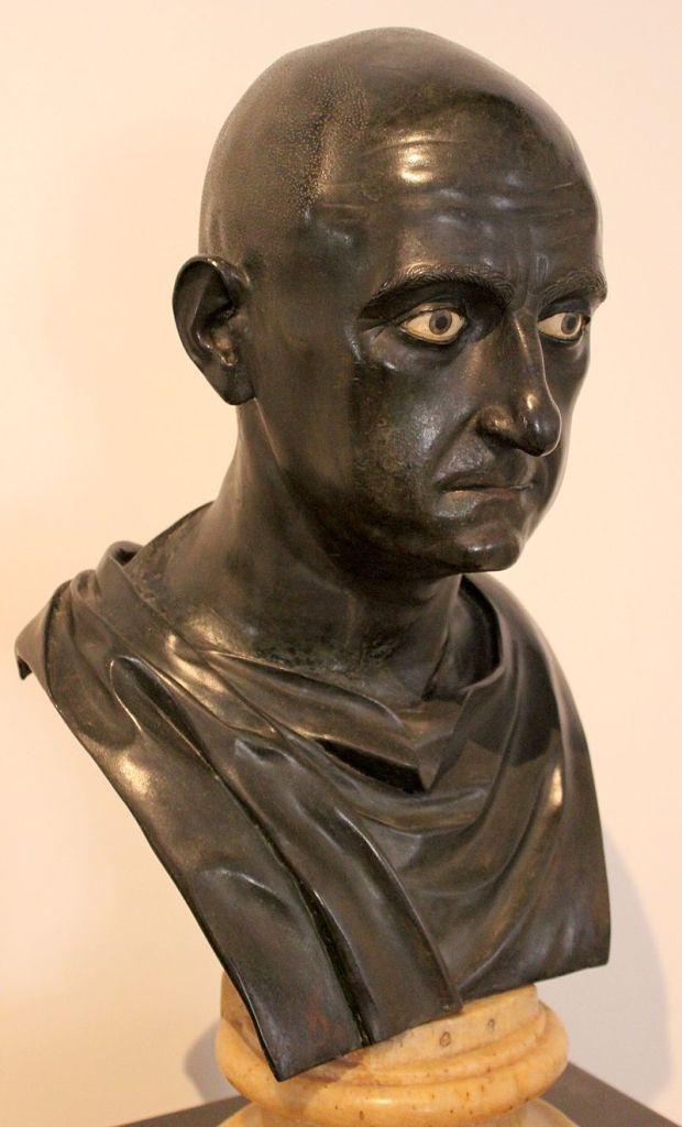Bronze bust of Scipio Africanus.