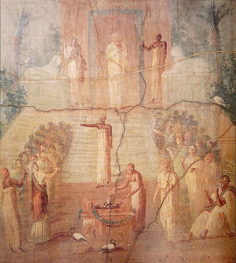 Isaic ritual. Temple of Isis, Pompeii.