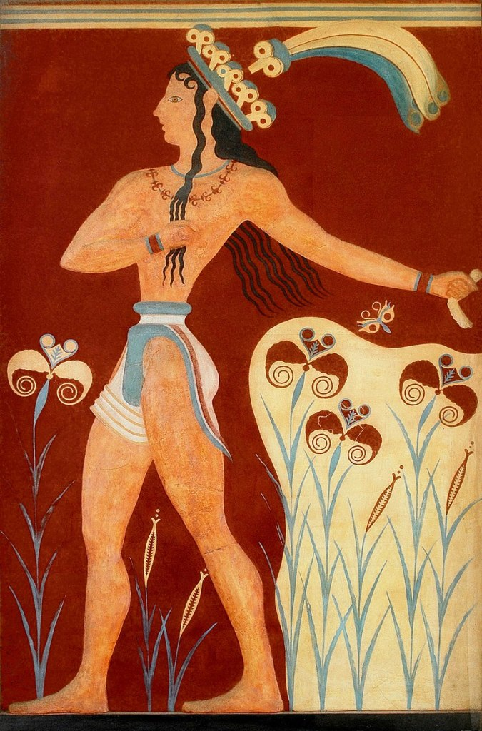 The Prince of Lilies Fresco from Knossos.