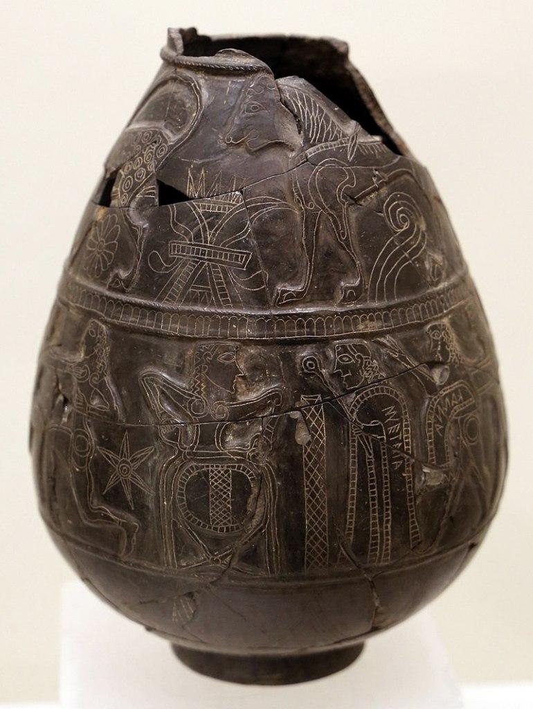 Bucchero olpe, c. 630 BC.