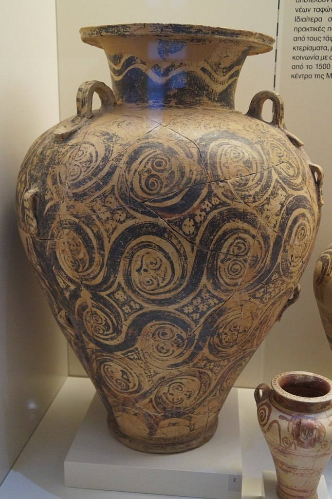 Pyriform jar from chamber tomb 10 of the Dendra cemetery, c. 1500-1450 BC.