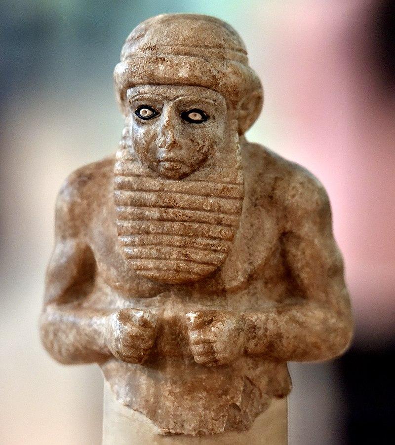Sumerian dignitary, Uruk, c. 3300-3000 BC. National Museum of Iraq.