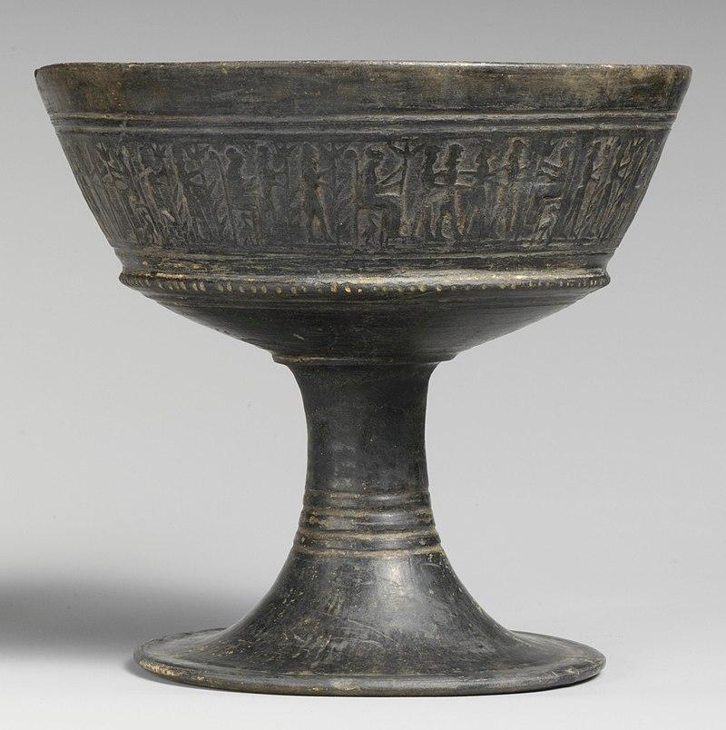 Bucchero cup, c. 575–550 BC.