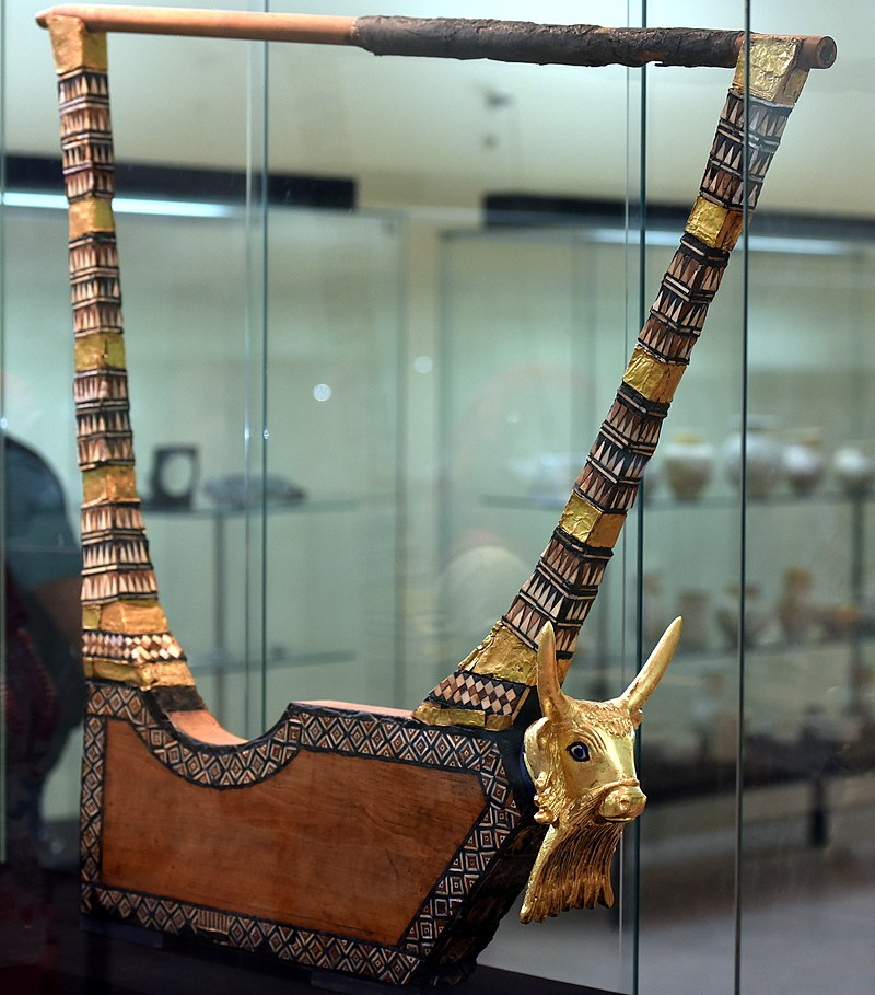 Queen Puabi's gold lyre. British Museum.