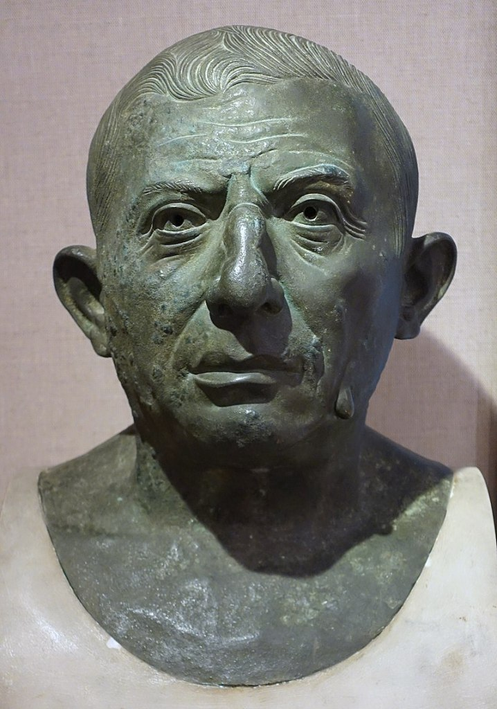 Bronze bust of L. Caecilius Iucundus, Pompeii.