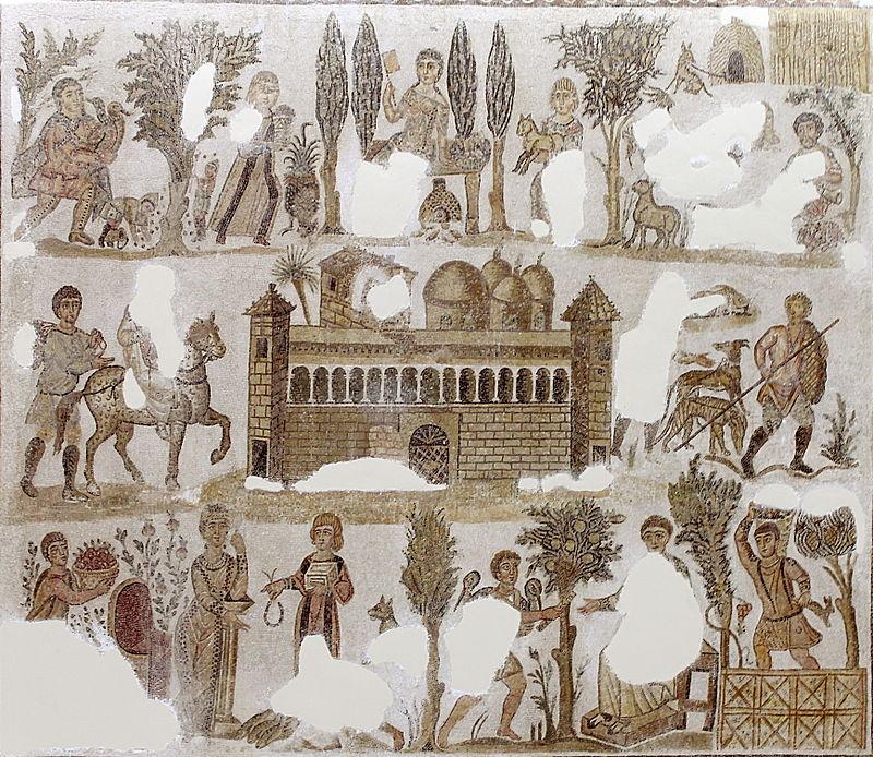 Dominus Julius mosaic. Bardo Museum.