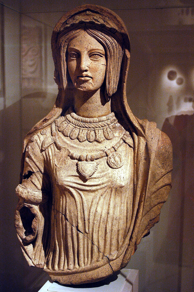 Terracotta figure of a young woman, late 4th – early 3rd c. BC.