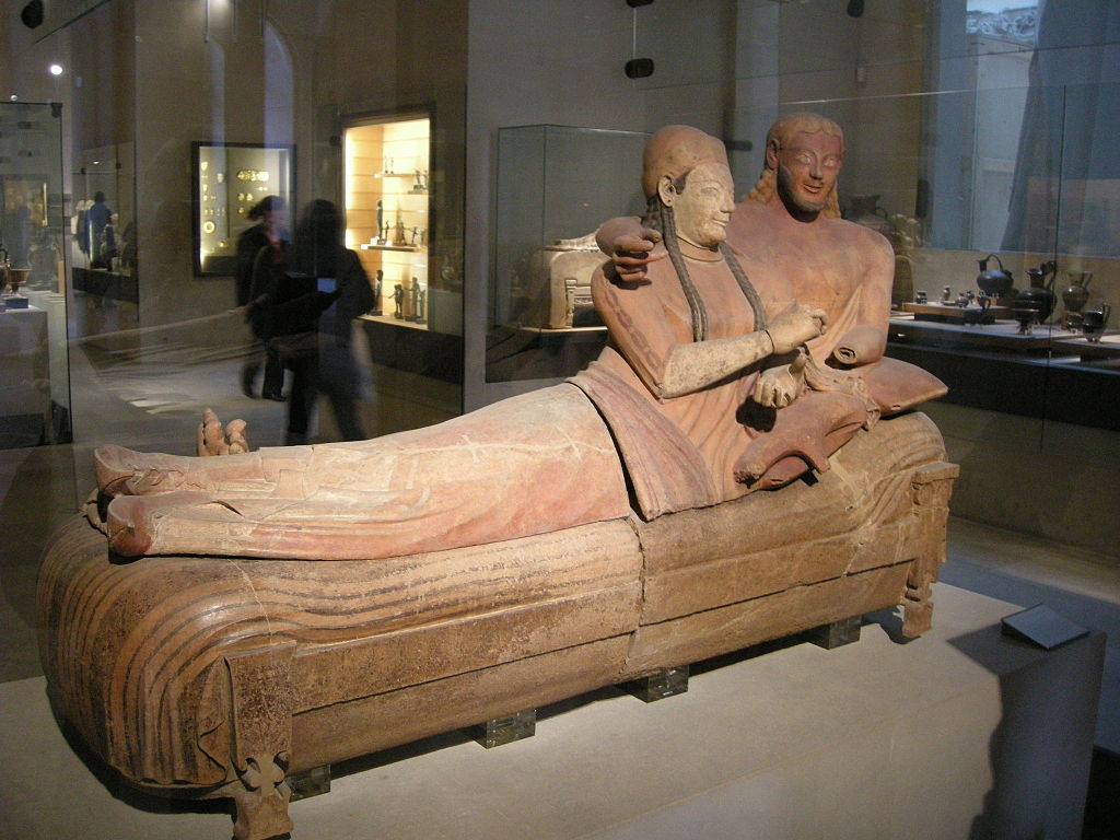 Sarcophagus of the Spouses, Cerveteri, 520BC. Louvre.