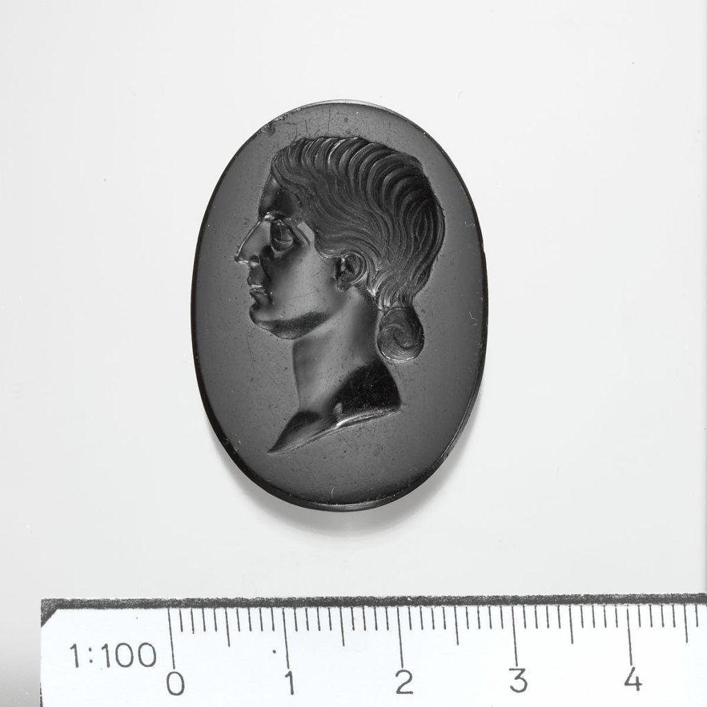 Jasper intaglio of a Roman lady, 1st c. AD.