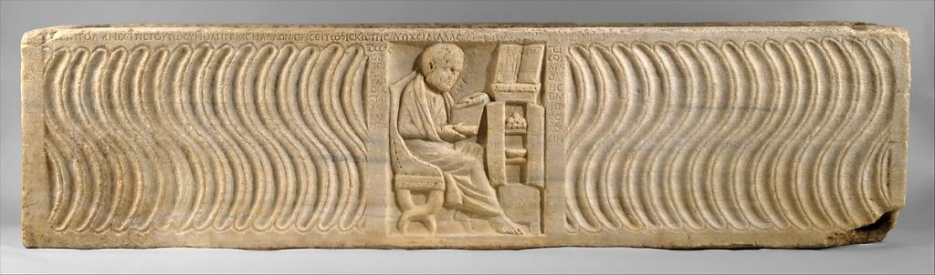 Sarcophagus of Greek physician, c. 300 AD. Metropolitan Museum of Arts.