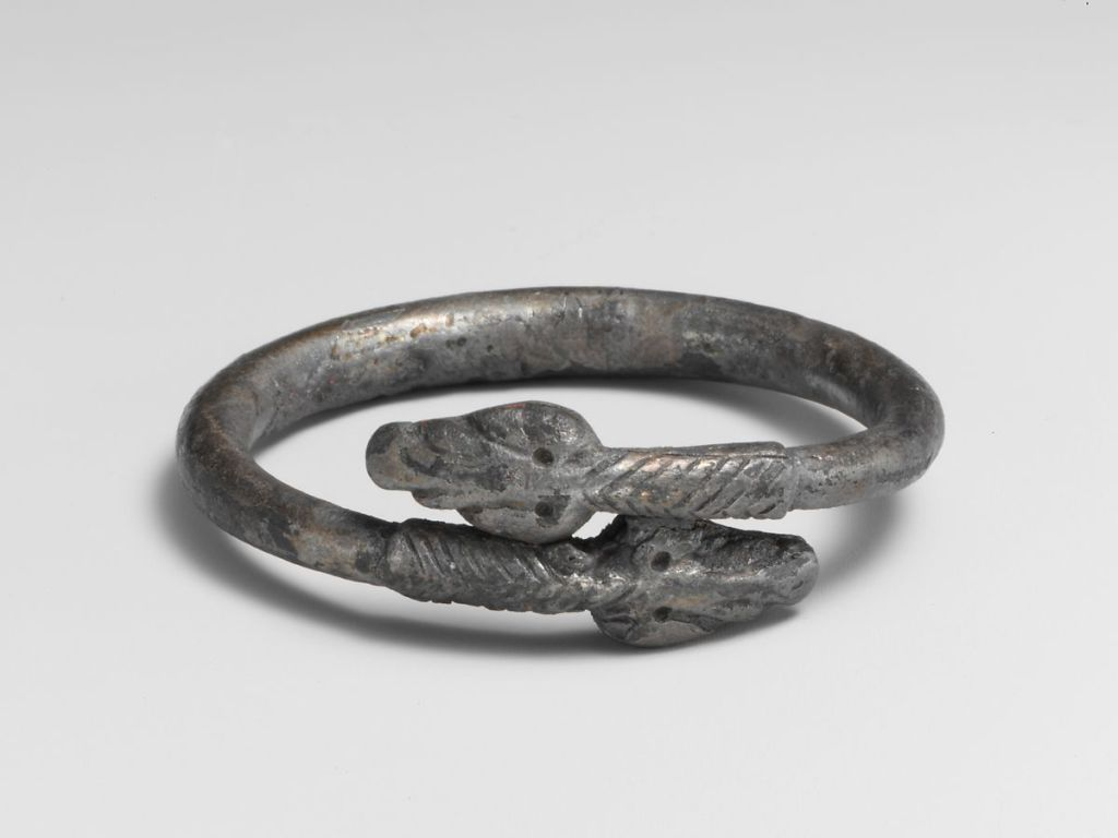 Silver bracelet in the form of a snake, 3rd c. AD.