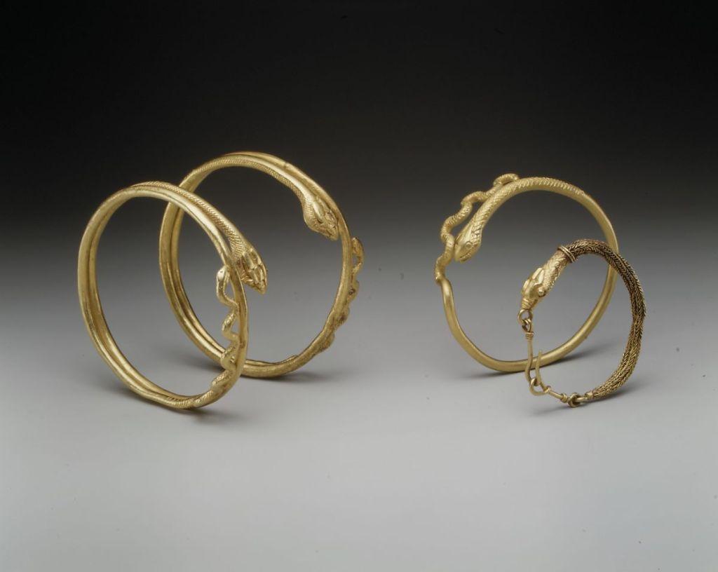 Snake bracelets, 1st c. AD.