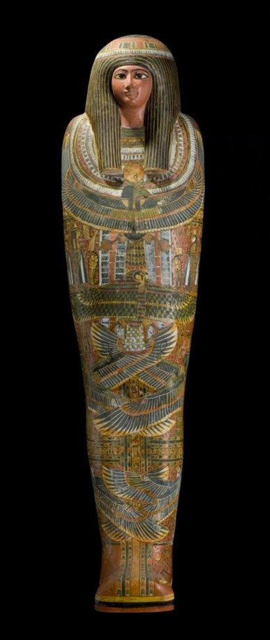 Inner coffin of Nehemsumut. Museum of Scotland.