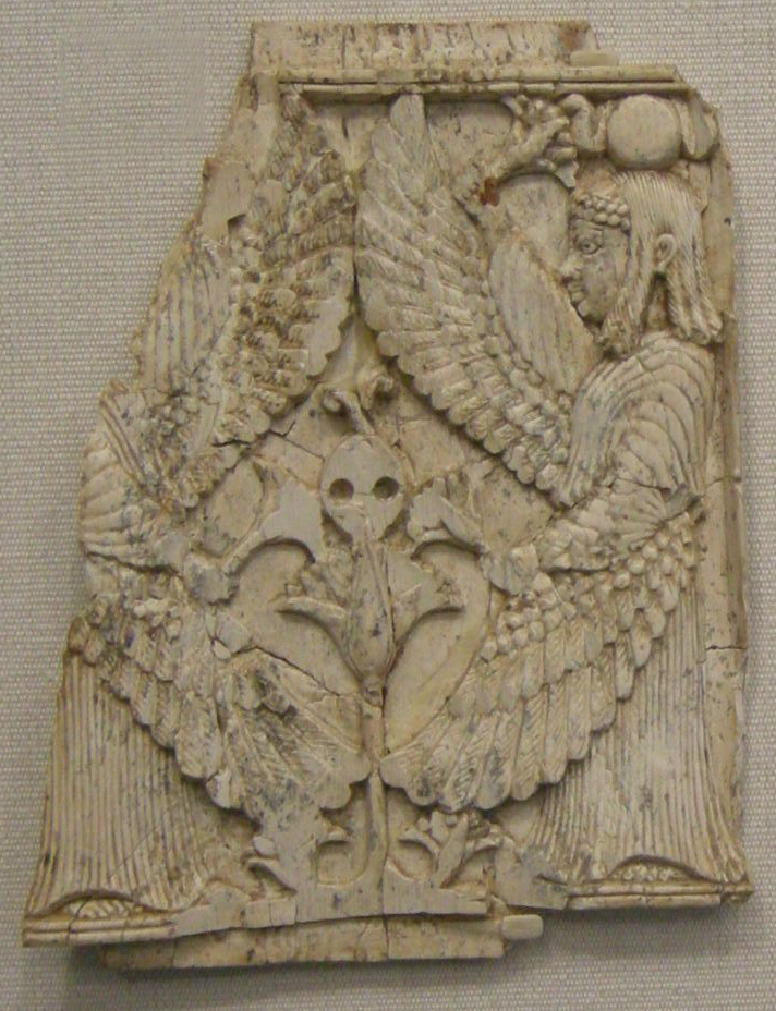 Plaque with Egyptian deity.