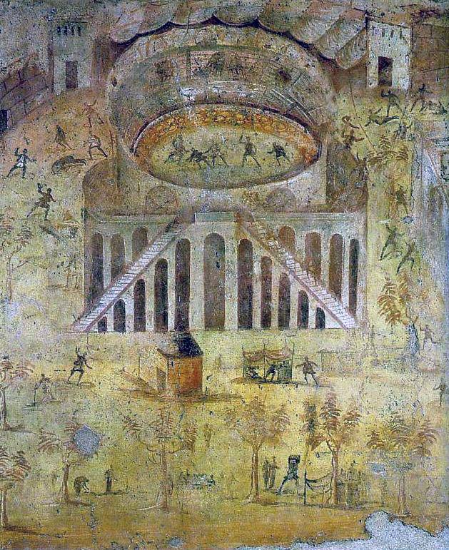 Riot at the Amphitheatre. House of Actius Anicetus, Pompeii.