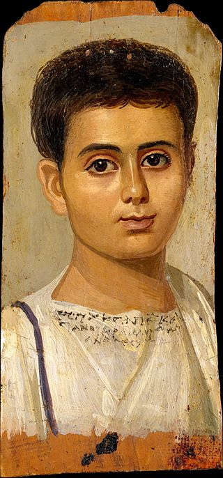 A boy, identified by inscription as Eutyches, Metropolitan Museum of Art.