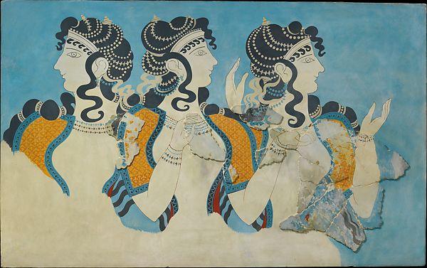 Ladies in Blue Fresco. Metropolitan Museum of Art.