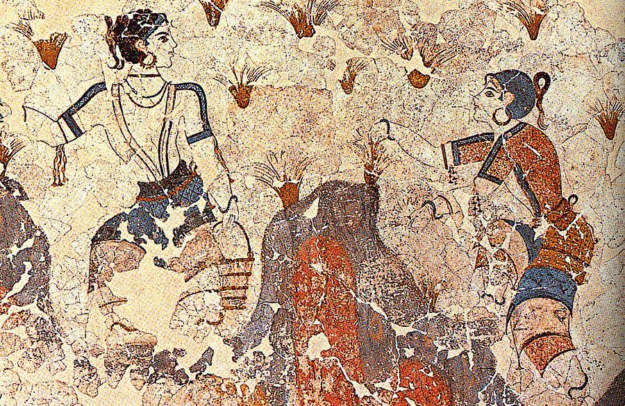 Saffron Gatherers from Akrotiri.