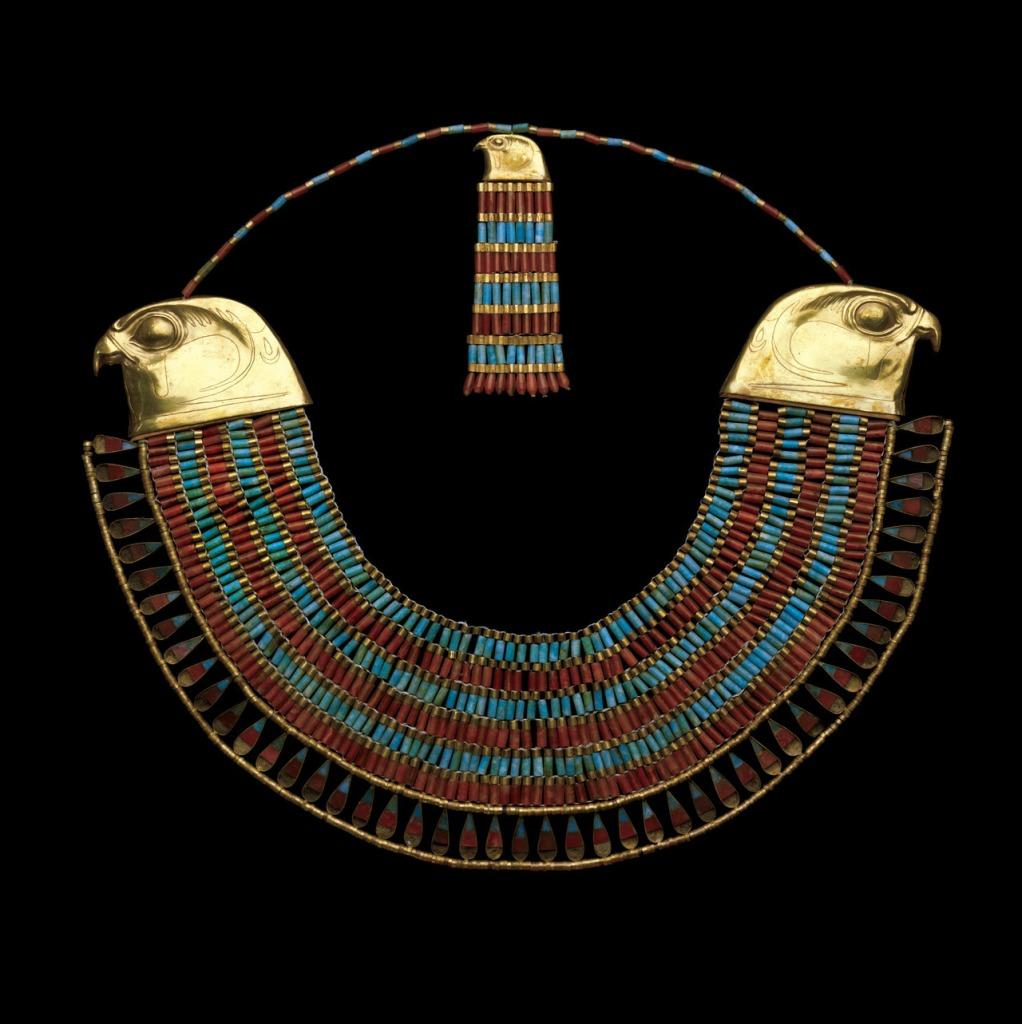 Usekh Collar of Princess Neferuptah, c. 1860-1814 BC. Egyptian Museum, Cairo.