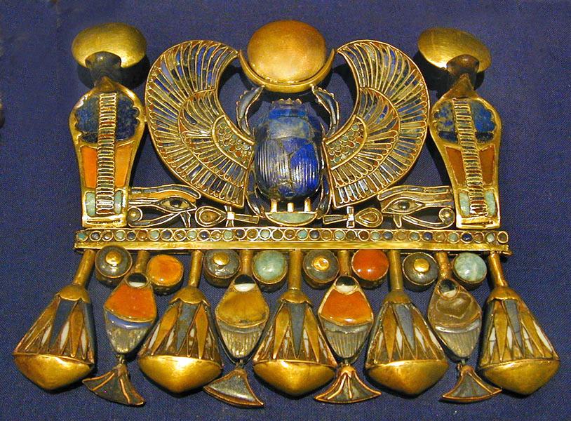 Scarab pectoral of Tutankhamun.